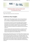 Colloquium Brief: American Society and Its Profession of Arms